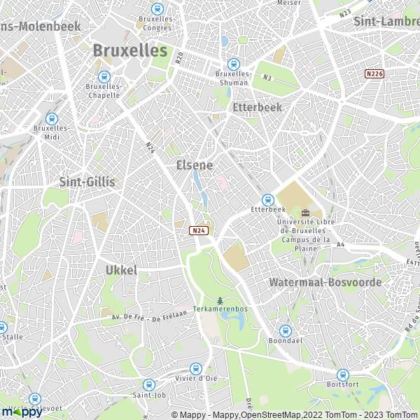 La Ville Du Bois Carte
